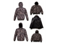 100% Nylon Men Zipper Quilted Puffer Down Jackets Camo Print For Winter