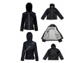 Black Color Fall Jackets Women With Cotton Lining