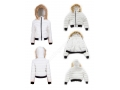 Women Slim Large Size Lightweight Jacket Stand Collar Fur Hooded Light Down Jacket
