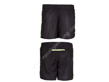 black color pongee sport shorts