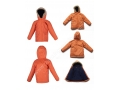 Orange Kids Mid Long Puffer Coat Winter Down Jacket