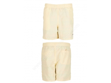polyester yellow color simple beach shorts