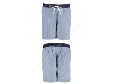 vertical stripe printing mens cotton cargo shorts
