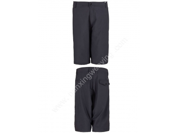 polyester 4 way spandex black mens beach shorts