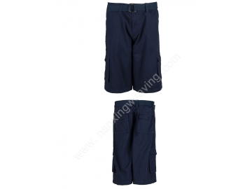 mens multi pocket fishing trunks navy color