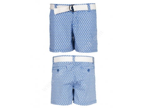 houndstooth print casual beach shorts