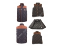 Suede Contrast Fabric Bomber Men Padded  Vest Jackets